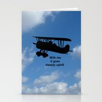 airplane Stationery Cards featuring airplane by Karl-Heinz Lüpke