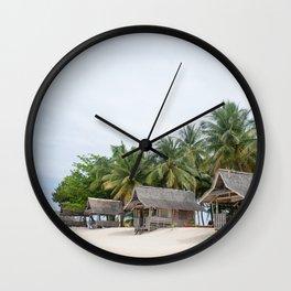 Huts on Siargao Island Wall Clock