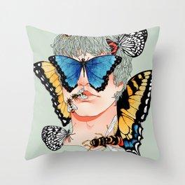 Butterfly Boy Throw Pillow