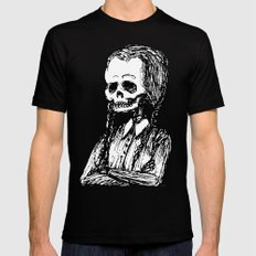 Wednesday Skull LARGE Black Mens Fitted Tee