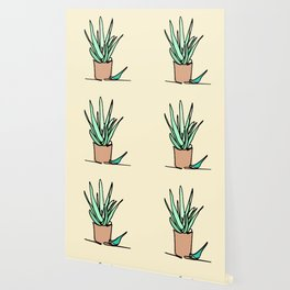 Potted Plant Drawing Wallpaper