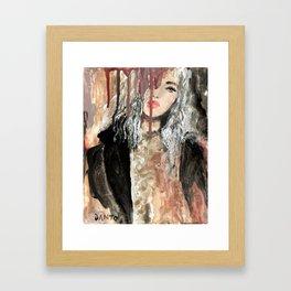 BLACK COAT Framed Art Print