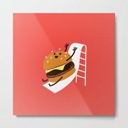 Slider Burger Metal Print