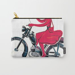 1950 Lipstick Girl Usines Favor Moped Cycles Vintage Poster Artwork for Prints Posters Tshirts Carry-All Pouch