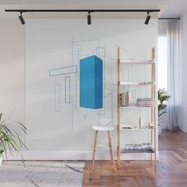 Blueprint #3 (blue) Wall Mural