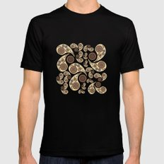 Paisley Pattern Mens Fitted Tee Black MEDIUM