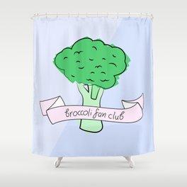 broccoli fan club Shower Curtain
