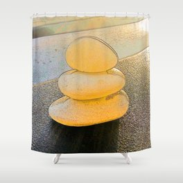 White on White at the Beach. Shower Curtain