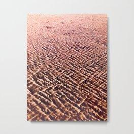 Sand Patterns, Pink Metal Print