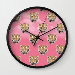 TIGER PINK PATTERN Wall Clock