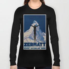 Vintage Zermatt Switzerland Travel Long Sleeve T-shirt