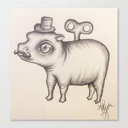 Wind Up Hippo Canvas Print