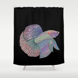A Beautiful Betta Fish Shower Curtain