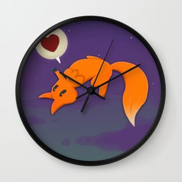 Fox&Moon Wall Clock