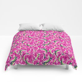 Watermelons Forever   Bright Pink Bubblegum Comforters