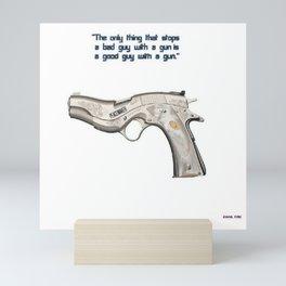 American Problems Pop-Art Gun Series #7 by Jéanpaul Ferro - Good Guy with Gun Mini Art Print