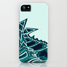 Blue Seahorse Drawing | Light background Color | Ocean Art iPhone Case