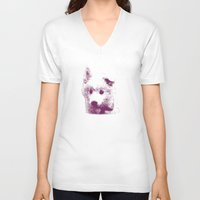puppy V-neck T-shirts featuring Puppy by Deliratio