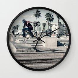 Miami Beach Skatepark Skateboarding poster Skateboarding print photography print Wall Clock