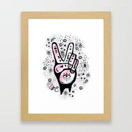 Peace fingers Framed Art Print