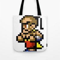 final fantasy Tote Bags featuring Final Fantasy II - Yang by Nerd Stuff