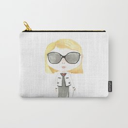 Fashion Darling Illustrated Watercolor Wall Art Print Nursery Decor Carry-All Pouch