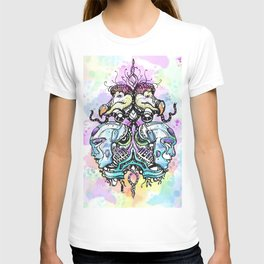 Robots vs Dodo - Festival - Colorful - Art by Lana Chromium T-shirt