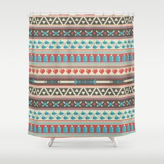 Fair-Hyle Knit Shower Curtain