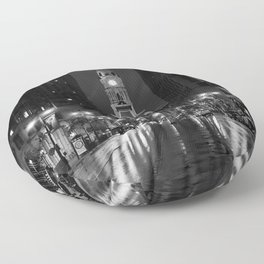 City of Brotherly Love [B+W] Floor Pillow