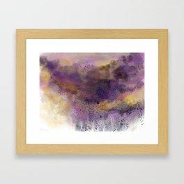 Purple Storm Framed Art Print