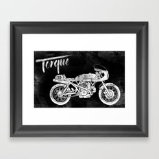 Vintage Torque Cafe Racer Framed Art Print
