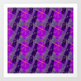 abstract seamless floral pattern exotic shapes Art Print