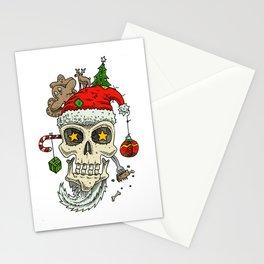 Christmas Skull  Stationery Cards