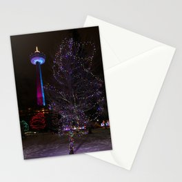Skylon Tower with Christmas Lights Stationery Cards