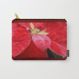 Mottled Red Poinsettia 2 Blank P5F0 Carry-All Pouch