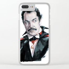 Vincent Price Clear iPhone Case