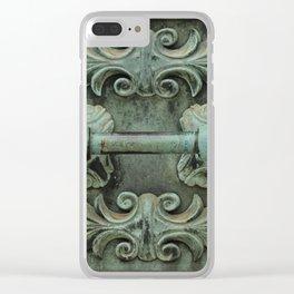 Copper door knob Clear iPhone Case