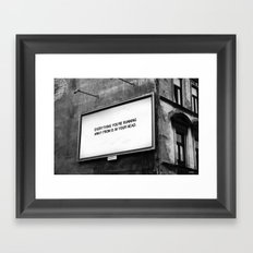 BILLBOARD FANTASIES #2 Framed Art Print