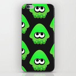 Splatoon Squid Pattern Green iPhone Skin