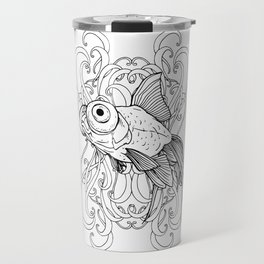 Rising Goldfish Travel Mug
