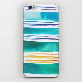 14   |181026 Lines & Color Block | Watercolor Abstract | Modern Watercolor Art iPhone Skin