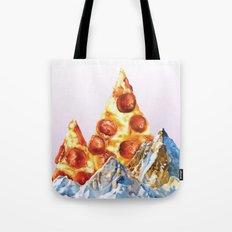 Pepperoni Pizza Peaks Tote Bag