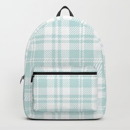 Cozy Plaid in Mint Backpack
