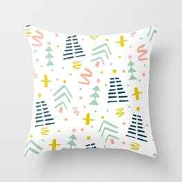 Abstact Holiday Pattern Throw Pillow