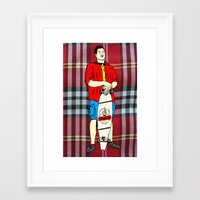 swag Framed Art Prints featuring #swag by WILMco