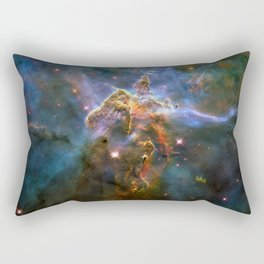 Mystic Mountain (a region in the Carina Nebula)(NASA/ESA Hubble Space Telescope) Rectangular Pillow