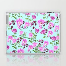 pink purple flowers watercolor painting Laptop & iPad Skin