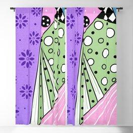 Color Block Patterns Blackout Curtain