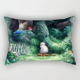 Wolf child Rectangular Pillow