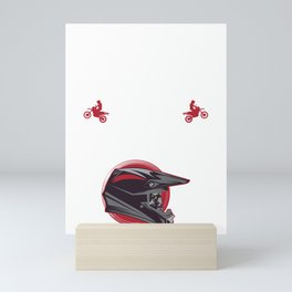 Blood Sweat and Gears Motocross Helmet Dirt Bike Racing Gift Mini Art Print